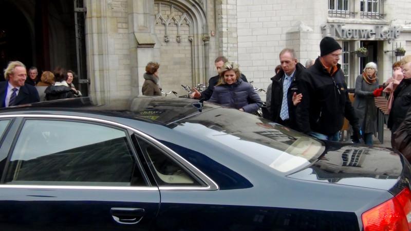 Prinses Maxima bezocht vanmiddag de Nieuwekerk