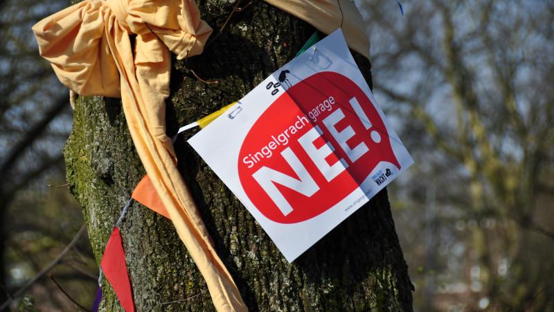 Bewoners boos om kappen bomen voor Singelgrachtgarage