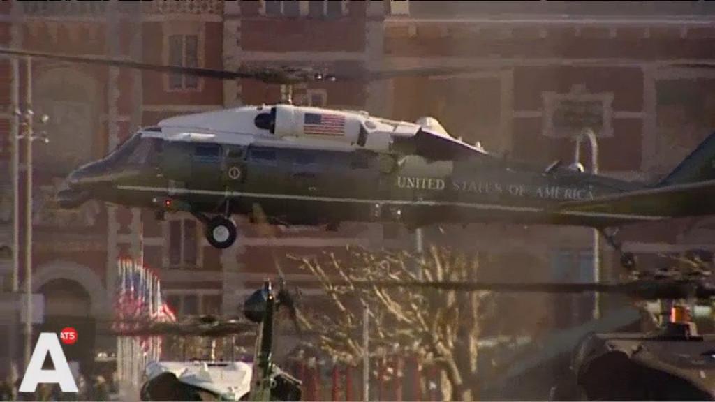 Video: Helikopters van Obama nemen Museumplein in
