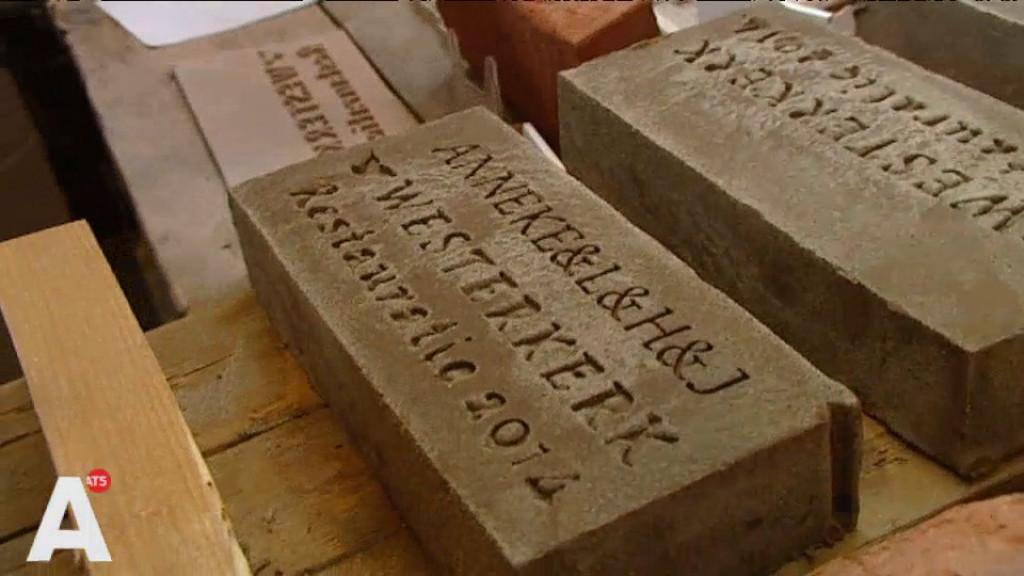 Vereeuwigd in Westerkerk met eigen baksteen