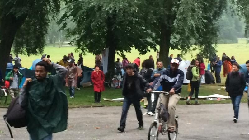 Asielzoekers Vluchthaven naar Oosterpark