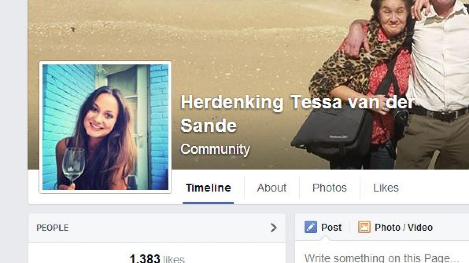 Facebook / Herdenking Tessa van der Sande