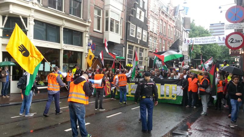 Felle uitspraken bij pro-Palestina-demo