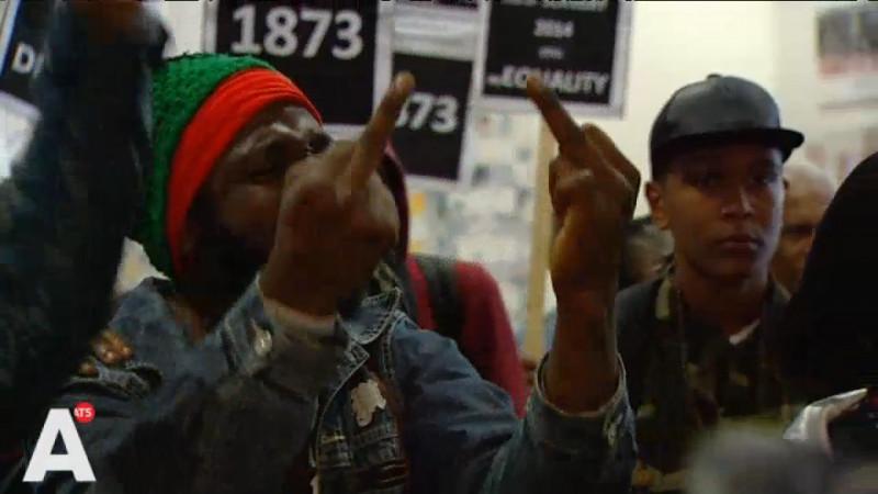 Zwarte Piet-betogers wilden burgemeester spreken