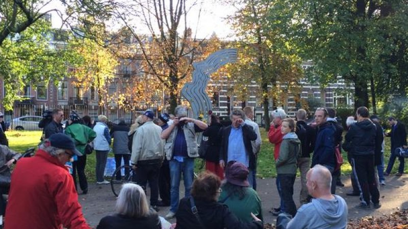 Theo van Gogh herdacht in Linnaeusstraat
