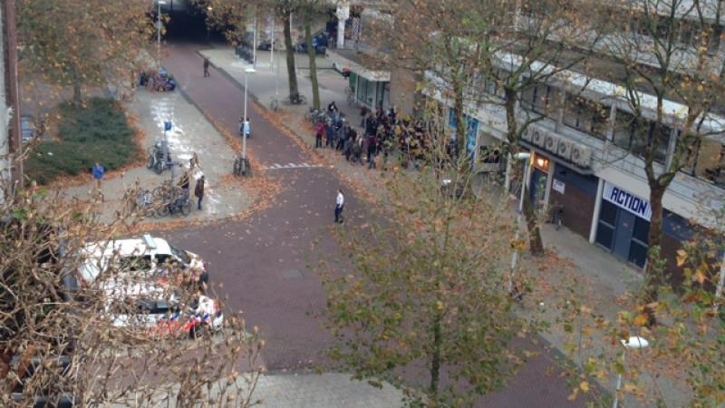 Massale kraak van flatwoningen in Slotervaart