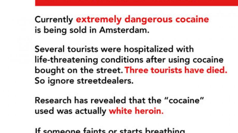 GGD zet mobiele cocaïne-testers in