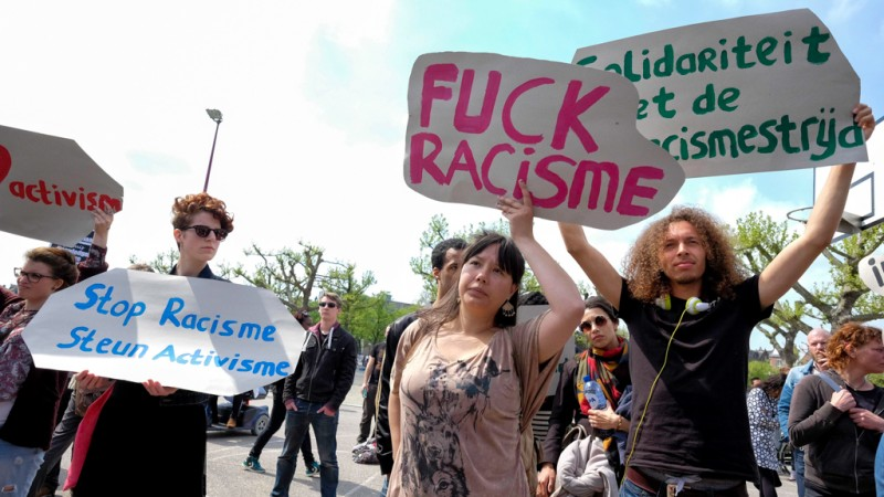 Fuck de Koning - protest Museumplein -1