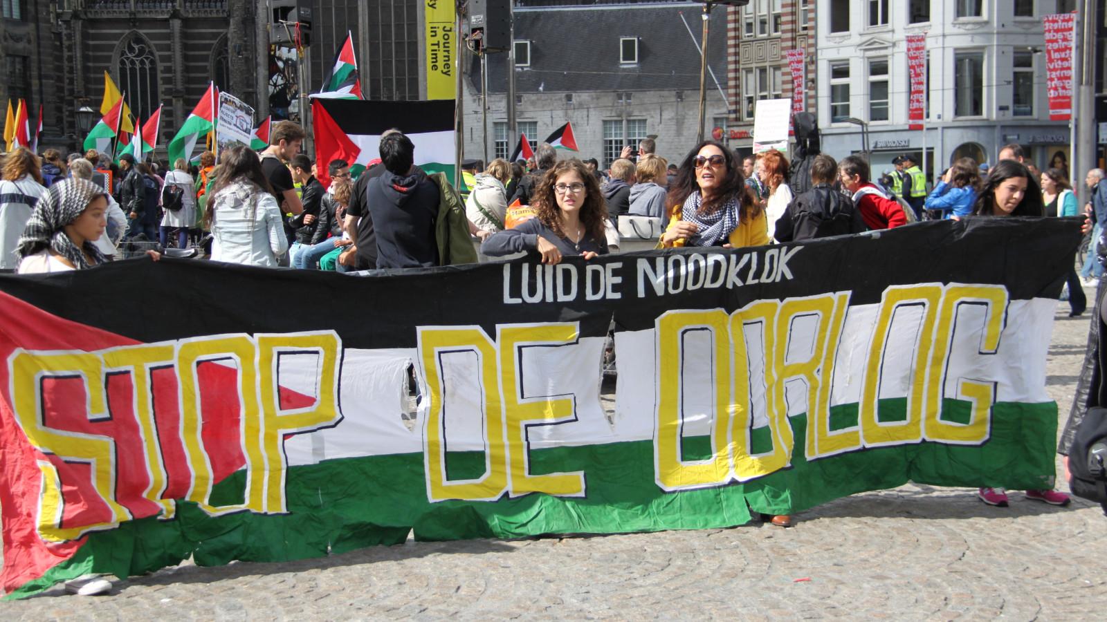 foto jaap/ Pro Palestina-demonstratie op de Dam (archief)