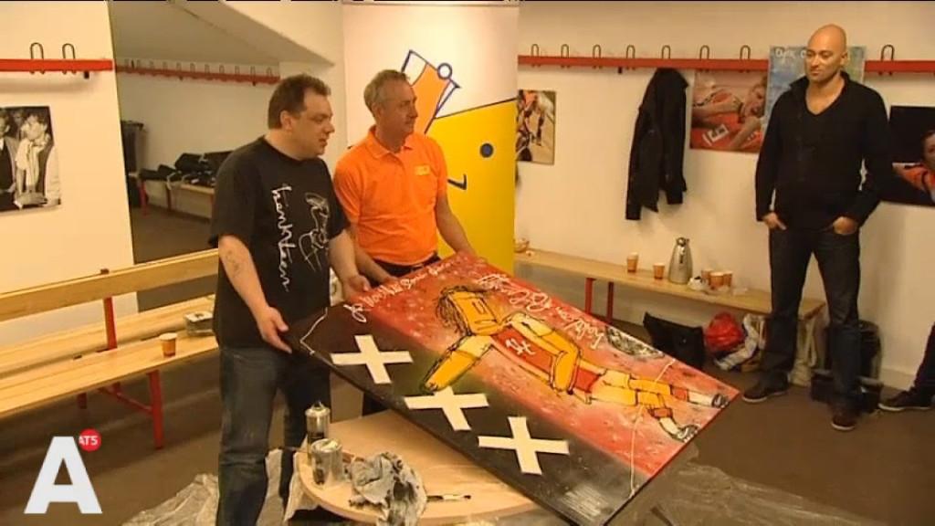Henk Veen schilderde samen met Cruijff: 'Alsof ik m'n jeugd kwijt ben'