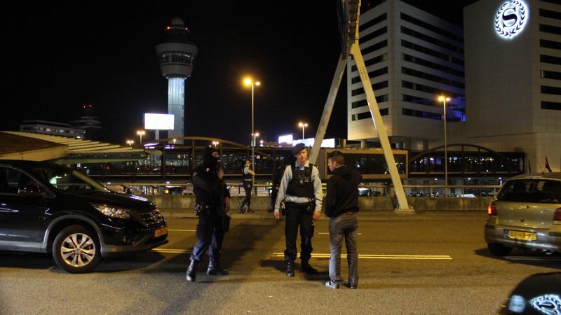 verdachte situatie arrestatie Schiphol