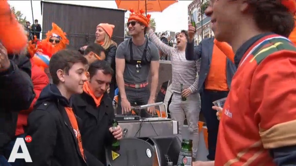 Vergistoerist: 'Oh my god i thought it was Queen's Day'