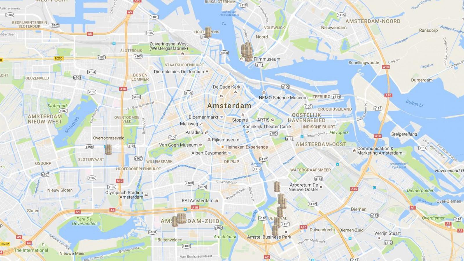 Kaart Amsterdam De Hoogte In Taboe Van Hoogbouw Doorbroken At5