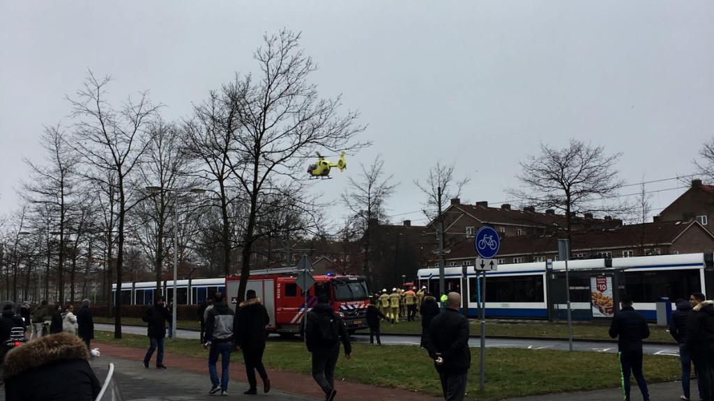 Voetganger overleden na aanrijding met tram in Slotermeer.