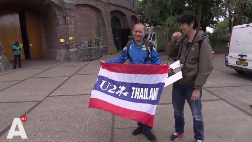 U2 neemt videoclip op in Westerunie