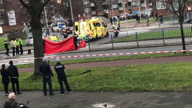 Aanrijding kind Burgemeester de Vlugtlaan en Antony Moddermanstraat