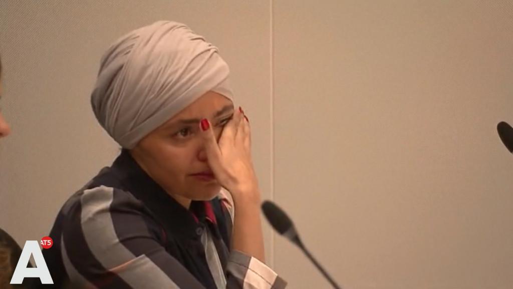 Saadia ait-Taleb in tranen tijdens rechtszaak: 'Het is enorm opgeblazen'