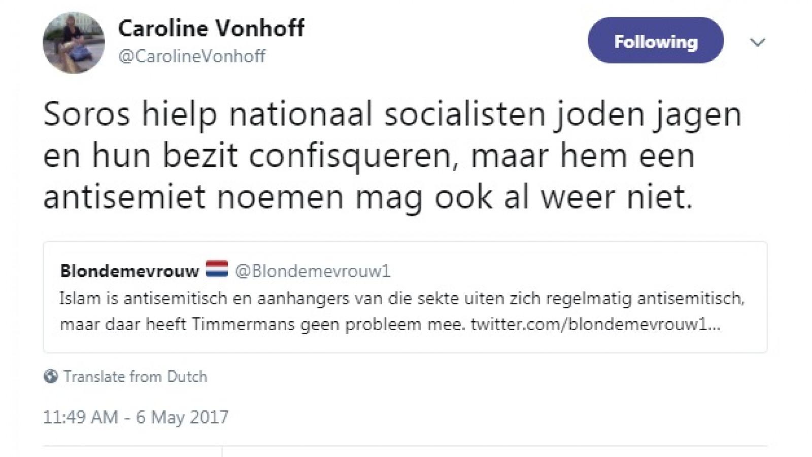 Twitter Caroline Vonhoff