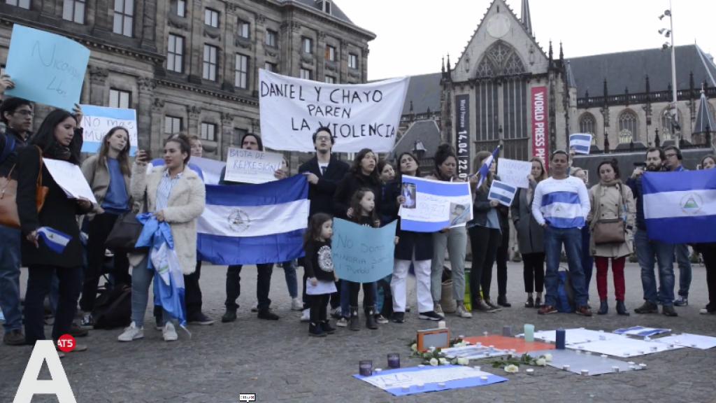 Tientallen bij wake op de Dam vanwege geweld in Nicaragua