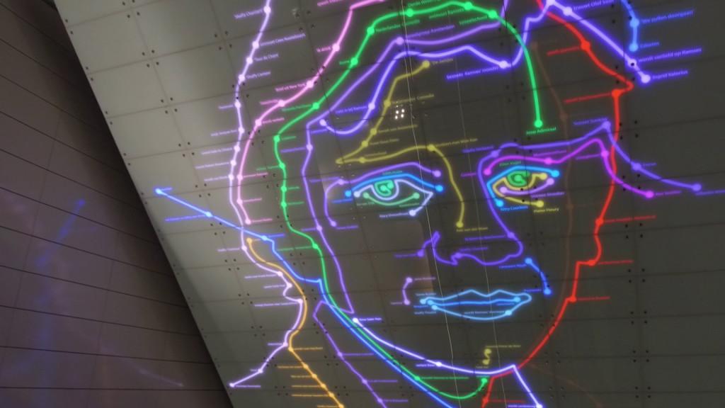 Kunstwerk Ramses Shaffy in Station Vijzelgracht