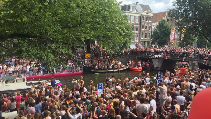 canal parade 2018 stock algemeen drukte