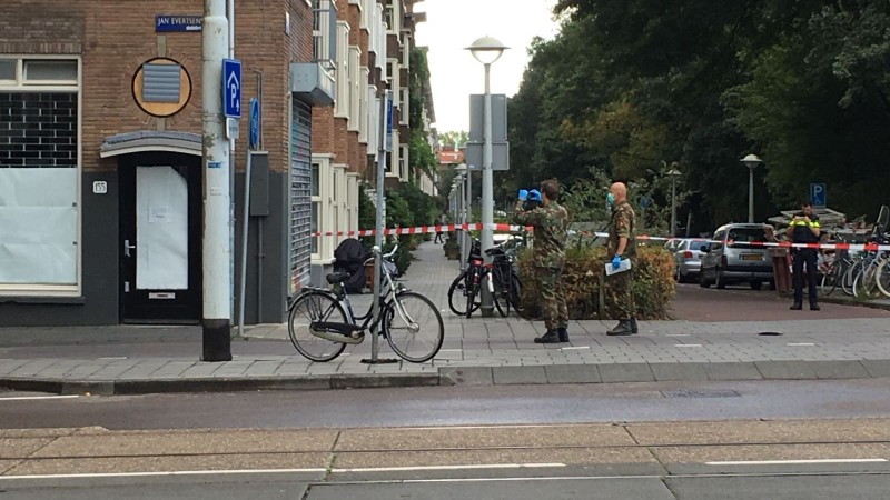 Explosief in de Jan Evertsenstraat