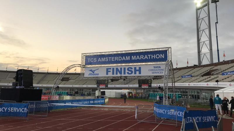 Opbouw Amsterdam Marathon