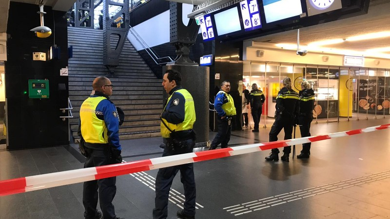 Supporters op Amsterdam Centraal