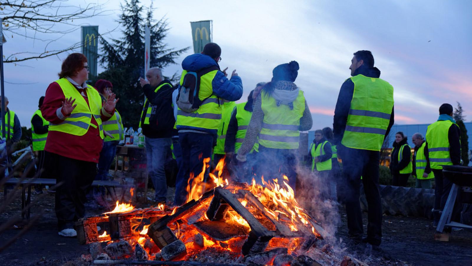 Leden van de gele hesjes-beweging bij een actie in Frankrijk | Flickr.com / Thomas Bresson