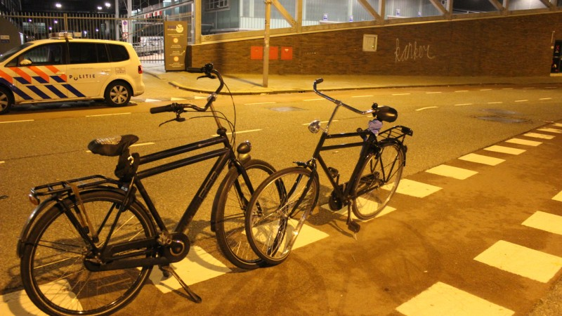 Frontale botsing fietsers