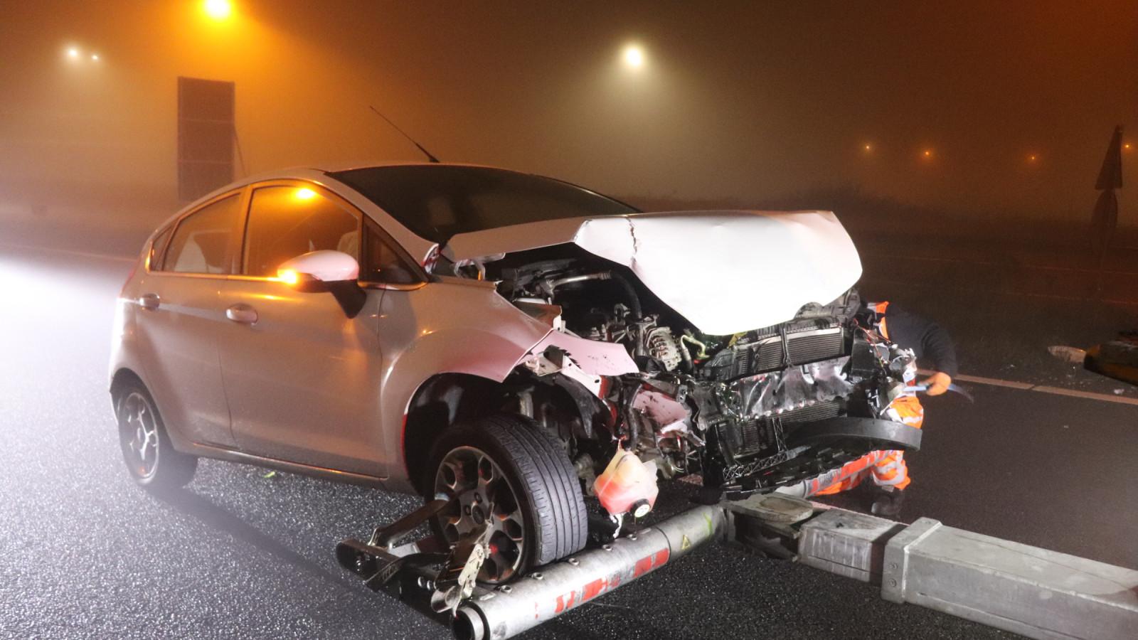 Opnieuw een ongeluk op verbindingsweg A10.