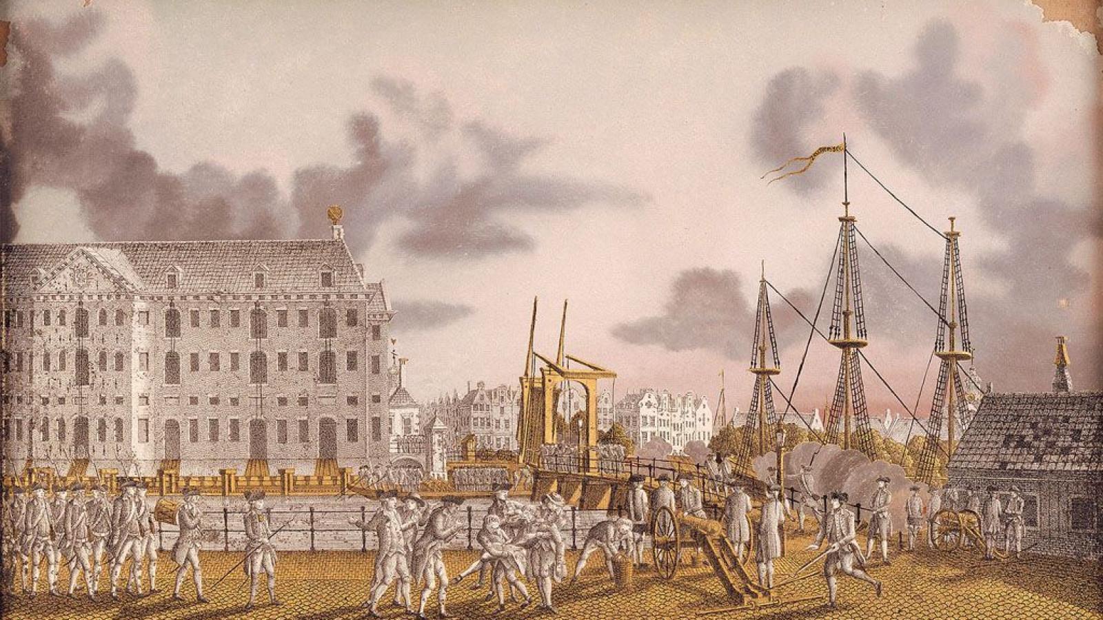 Strijd bij de Kattenburgerbrug op 30 mei 1787