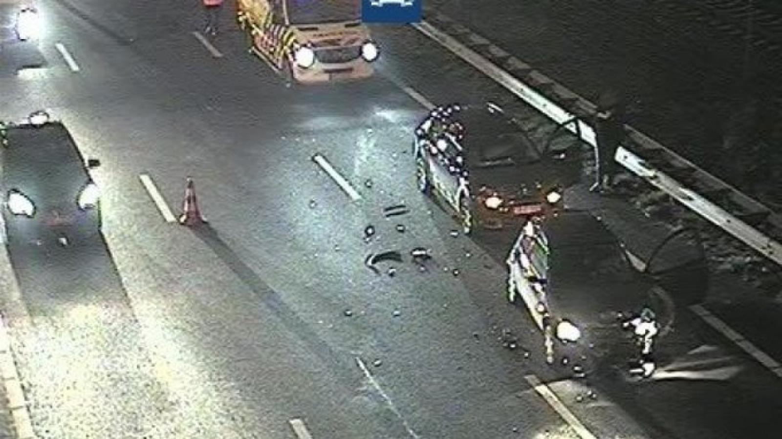 File door ongeluk op de A4.