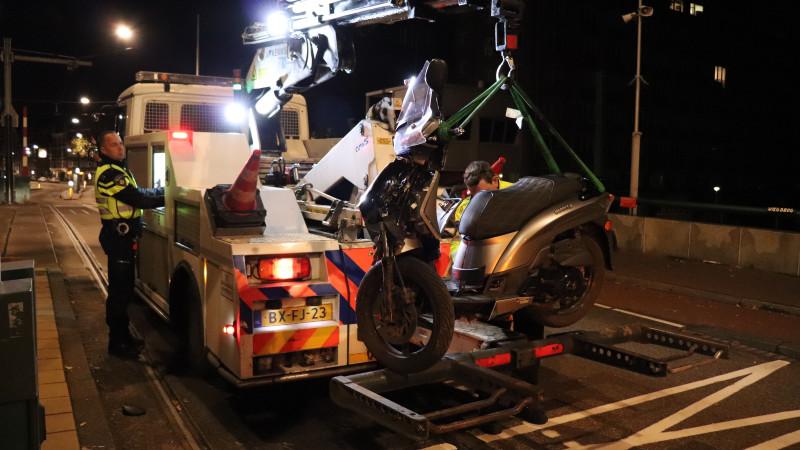 Ongeval met scooterrijder De Clercqstraat