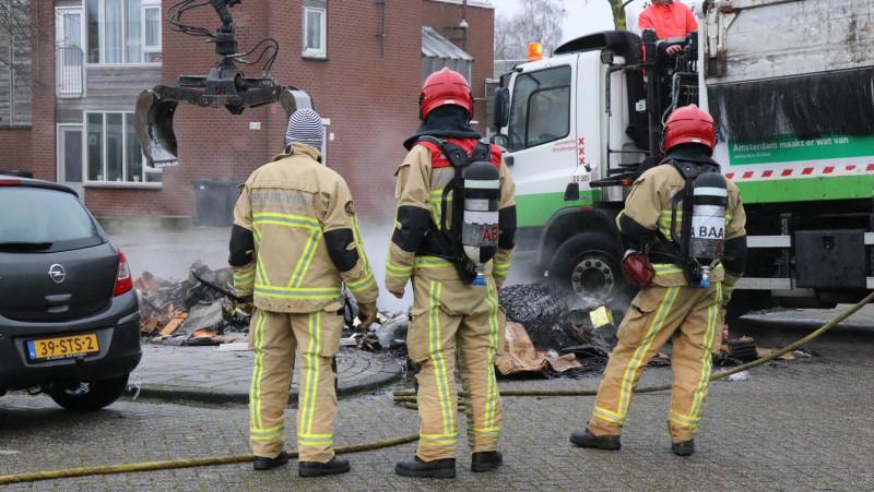 Brand vuilniswagen Zuidoost