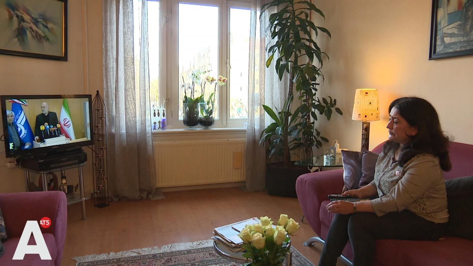 Iranian exile Roya Moayyed in Amsterdam