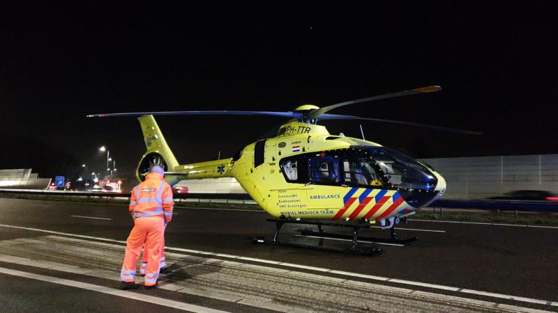 A10 Noord dicht na ernstig ongeval