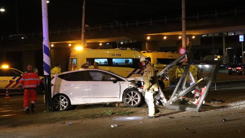 Gewonde bij ongeluk bij toerit A10