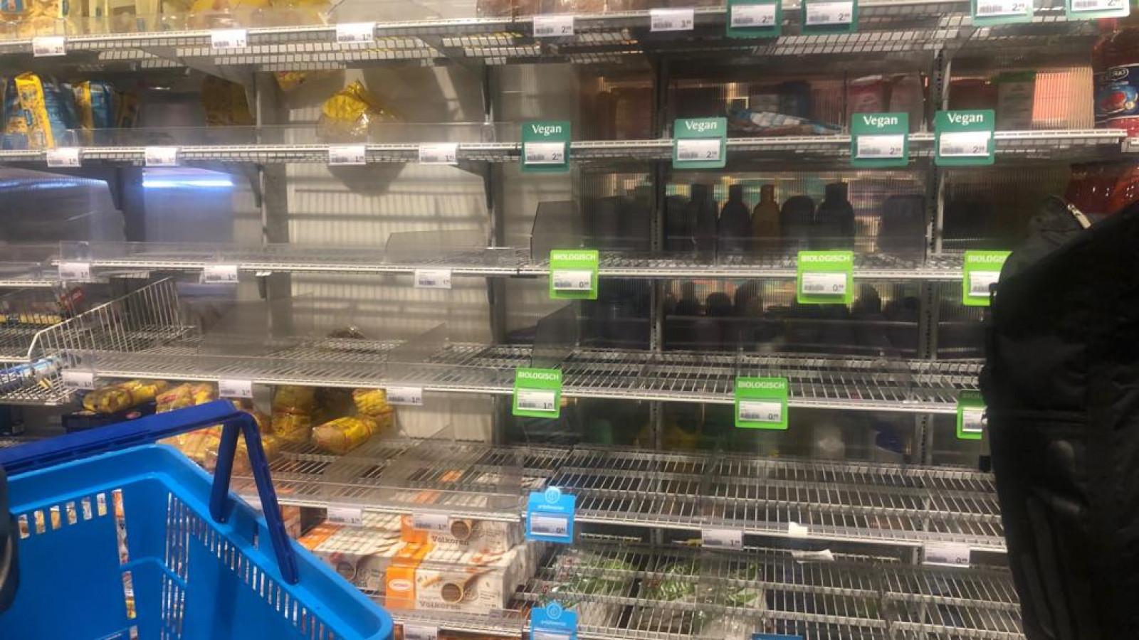 Afbeeldingsresultaat voor coronovirus supermarkt