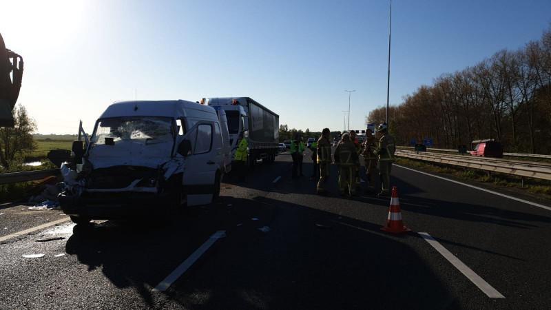 Ongeluk op A10 Noord