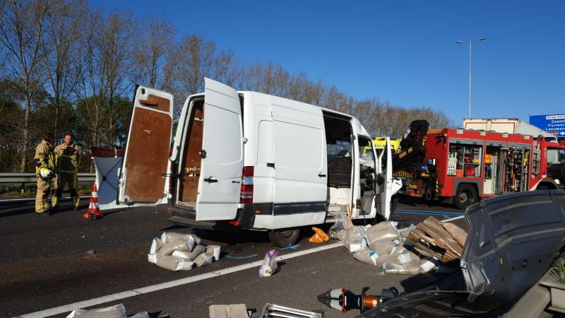 Ongeluk op de A10 Noord