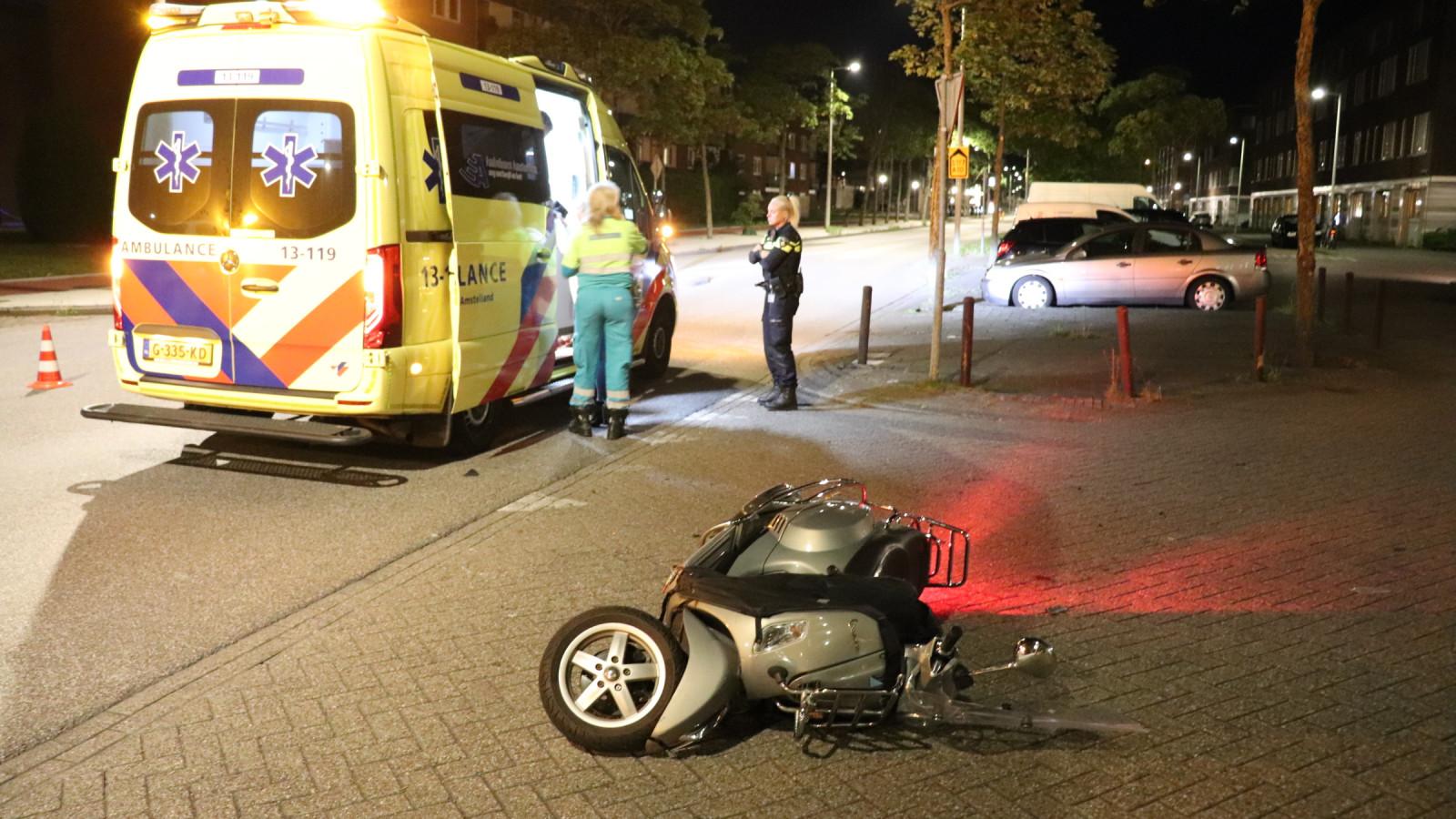 Scooterrijder gewond na botsing in de Banne.